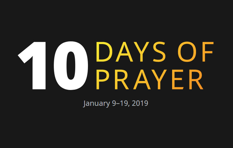 10 Days of Prayer 2019