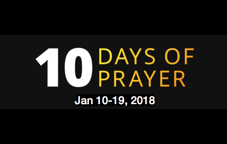 10 Days of Prayer 2018